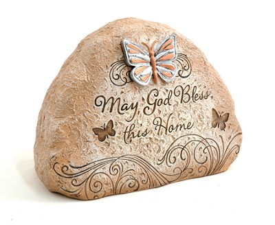 May God Bless This Home Garden Stone  -