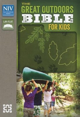 NIV, The Great Outdoors Bible for Kids, Italian Duo-Tone, Leaf Green - Slightly Imperfect  -