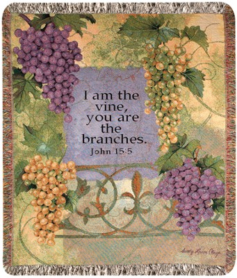 I Am the Vine, Woven Throw   -     By: Sandy Clough