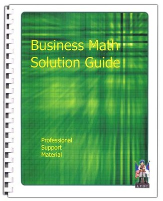 Business Math Solution Guide Professional Support Material  -