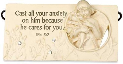 Cast all Your Anxiety on Him Plaque  -