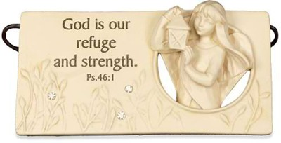 God is Our Refuge Plaque  -