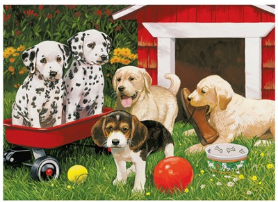 Puppy Party, 60 Piece Puzzle   -