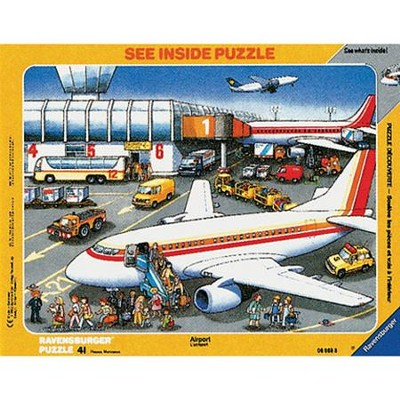 At the Airport, See Inside Frame Puzzle, 41 Piece   -
