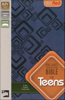 King James Version Bible for Teens, Italian Duo-Tone, Slate Blue  -