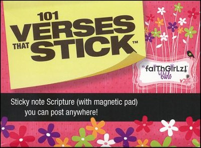 101 Verses That Stick for Girls, Sticky Note Gift Pack   -