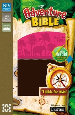 NIV Adventure Bible, Italian Duo-Tone, Chocolate/Hot Pink - Imperfectly Imprinted Bibles  -