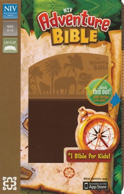 NIV Adventure Bible, Italian Duo-Tone, Chocolate/Toffee - Slightly Imperfect  -