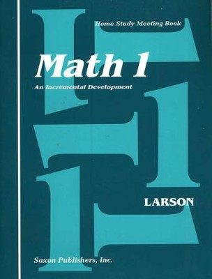 Saxon Math 1, Meeting Book   -