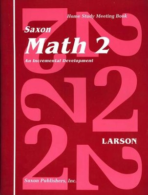 Saxon Math 2, Meeting Book  - Slightly Imperfect  -