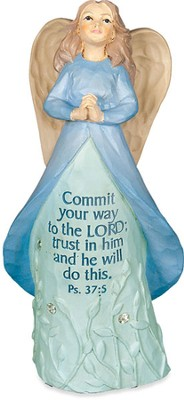 Angel Figurine, Commit Your Ways to the Lord  -