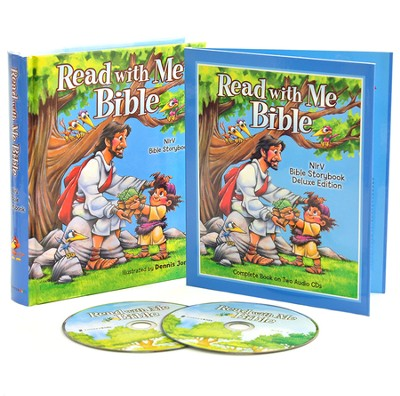 NIrV Read with Me Bible, Deluxe Ed. w/Audio CD    -     Illustrated By: Dennis Jones