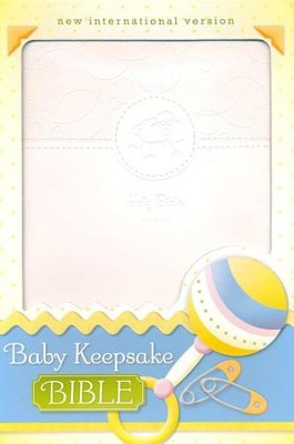 NIV Baby Keepsake Bible, White  -     By: Tracy Harrast