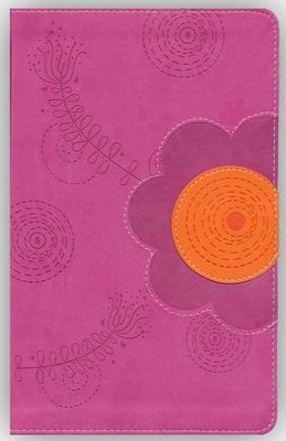 NIV Young Women of Faith Bible, Italian Duo-Tone, Raspberry/Clementine  -     Edited By: Susie Shellenberger     By: Susie Shellenberger