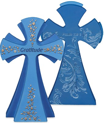 Gratitude, Give Thanks To the Lord Tabletop Cross  -
