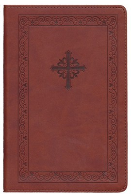 NIV Teen Study Bible, Compact, Italian Duo-Tone, Sienna Circles - Imperfectly Imprinted Bibles  -