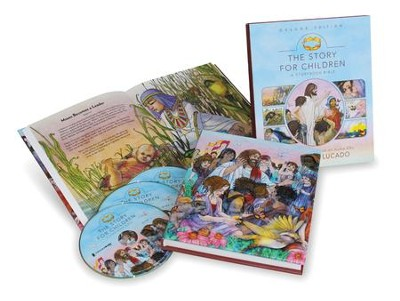 The Story for Children: A Storybook Bible, Deluxe Edition--Book and CDs - Slightly Imperfect  -     By: Max Lucado, Randy Frazee, Karen Davis Hill