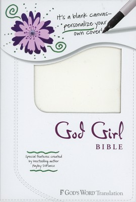 God's Word God Girl Bible, Duravella, blank white canvas design   -     By: Hayley DiMarco