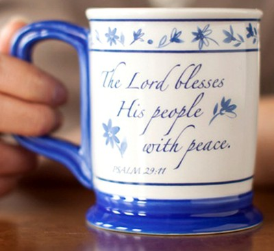 Grace Pillar Mug, Psalm 29:11  -