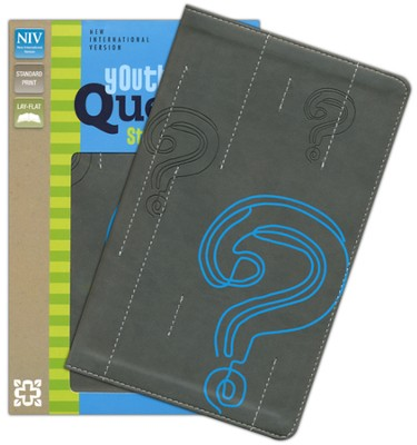 NIV Youth Quest Study Bible: The Question and Answer Bible, Italian Duo-Tone, Graphite/Blue  -