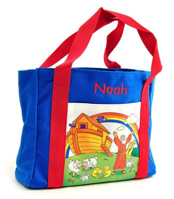 Personalized, My First Church Bag Noah's Ark, Medium   -     By: Zondervan