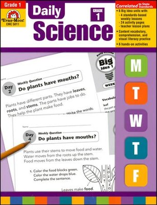 Daily Science, Grade 1  -