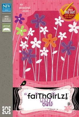 NIV Faithgirlz! Bible, Revised Edition, Italian Duo-Tone, Hot Pink / Petal Purple - Slightly Imperfect  -     By: Zondervan