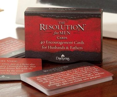 Courageous Resolution Encouragement Daily Cards for Men, Box of 40  -