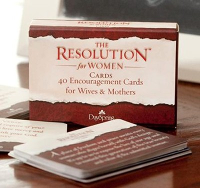 Courageous Resolution Encouragement Daily Cards for Women, Box of 40  -