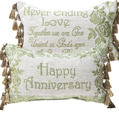 Happy Anniversary, Never Ending Love Pillow  -