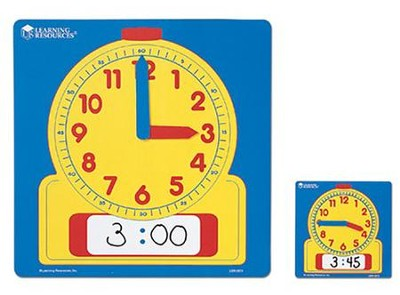 Write On/Wipe Off Demonstration Clock  -     By: Homeschool