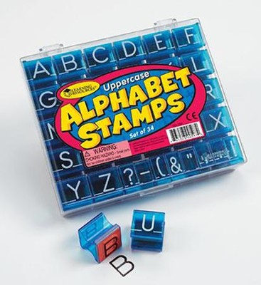 Uppercase Alphabet Stamps, Set of 34   -