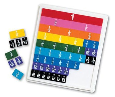 Rainbow Fraction Tiles with Tray  -     By: Homeschool