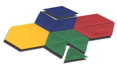 Plastic Pattern Blocks, Set of 100  -