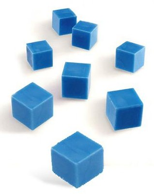 Blue Plastic Base Ten Components: Units, Set of 100   -