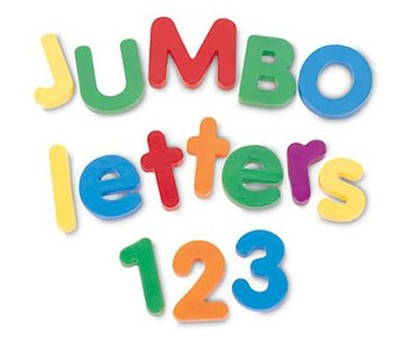 Jumbo Magnetic Letters & Numbers Combo Set   -