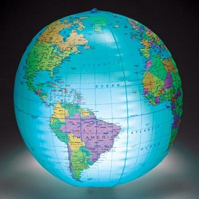 Inflatable Light-Up Globe   -