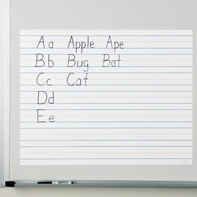 Write On/Wipe Off Magnetic Demonstration Handwriting Paper  -