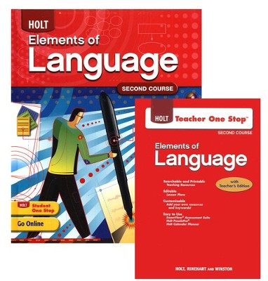 Holt Elements of Language Grade 8 Homeschool Package   -