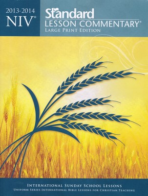 NIV Standard Lesson Commentary 2013-14, Large Print Edition  -