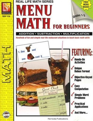 Real Life Math: Menu Math for Beginners   -
