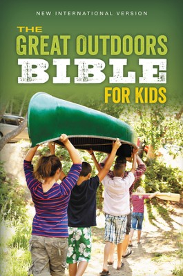 NIV, The Great Outdoors Bible for Kids, Blue - Slightly Imperfect  -