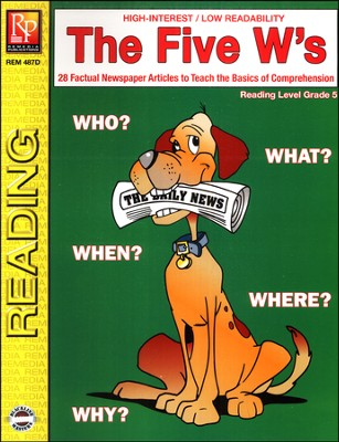 The Five W's Reading Level 5   -