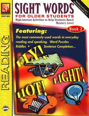 Sight Words for Older Students, Book 2   -