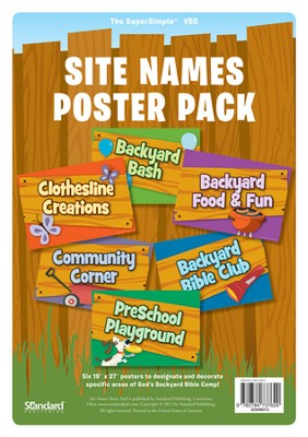 Under the Sun/Under the Stars VBS: Site Names Poster Pack  -