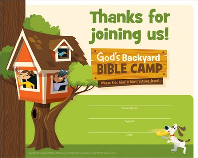 Under the Sun/Under the Stars VBS: Recognition Certificates  -