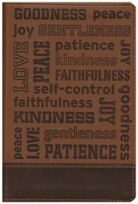 NIV, Fruit of the Spirit Bible Collection, Italian Duo-Tone, Brown  -