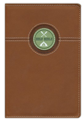 The Great Outdoors Bible for Kids, NIV, Italian Duo-Tone, Bark Brown  -
