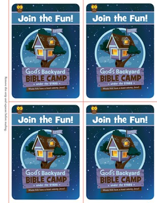 Under the Stars VBS: Invitation Postcards  -