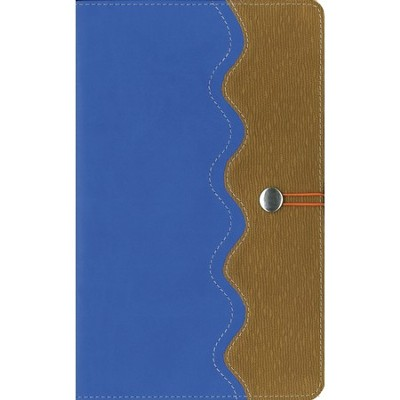 NIRV Adventure Bible for Early Readers, Italian   Duo-Tone, Elastic Closure, Blue/Tan  -     By: Lawrence O. Richards